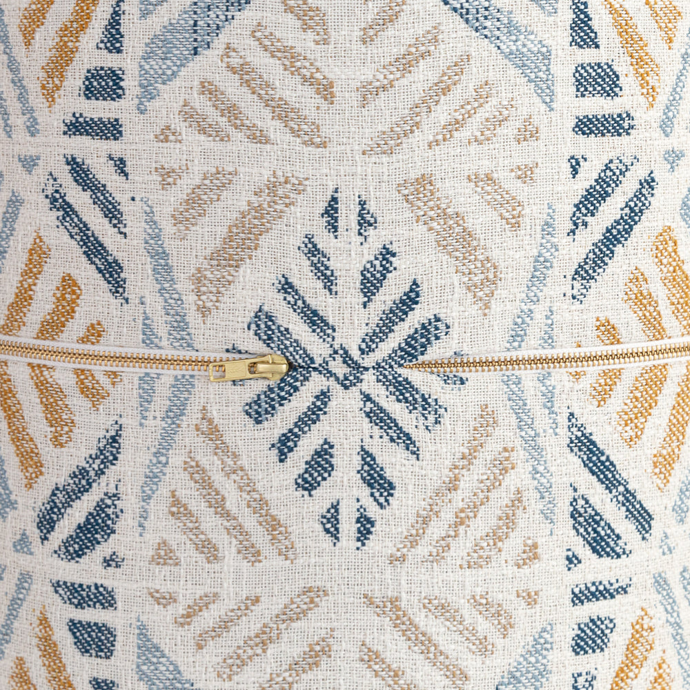 Isla round ottoman stool, zipper detail, from Tonic Living