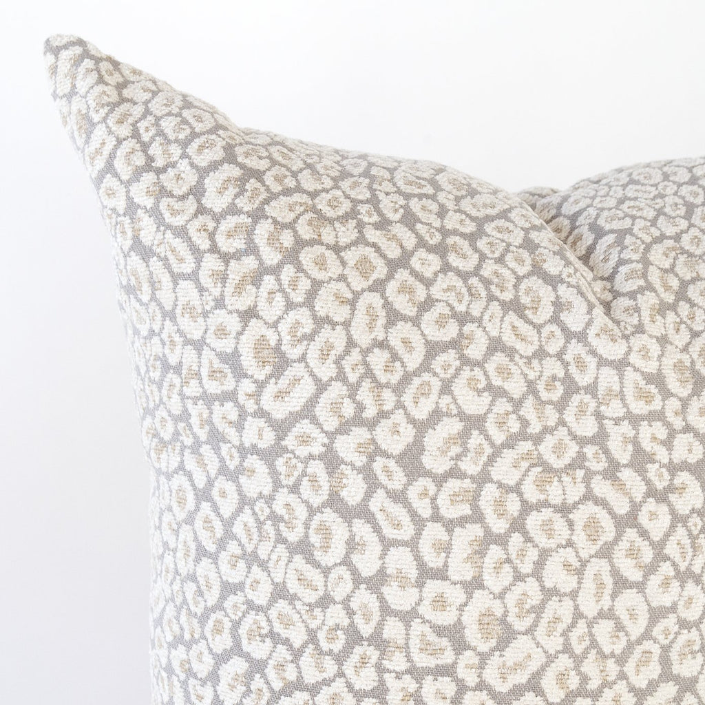 Jackie Pillow, Spots a taupe grey leopard pillow from Tonic Living