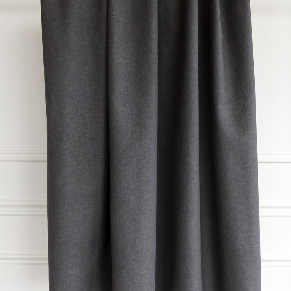 Jameson, charcoal gray drapery fabric from Tonic Living