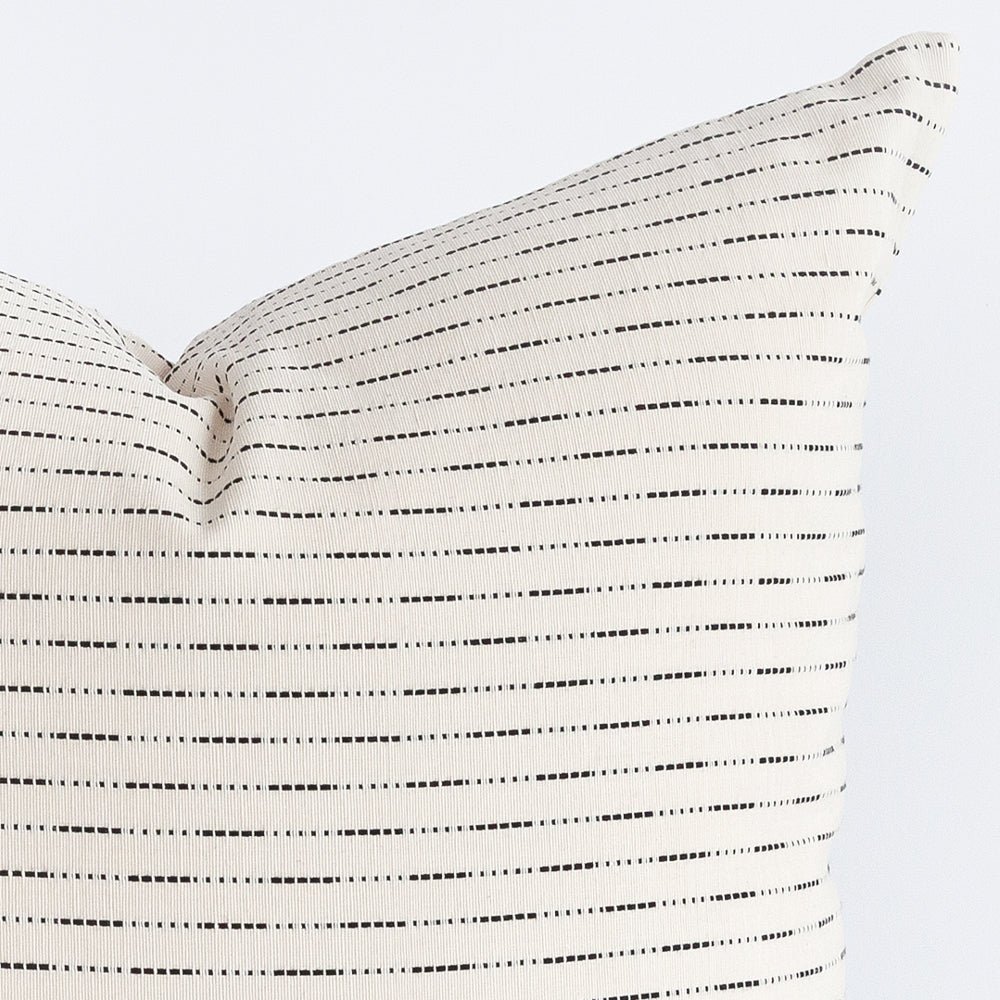 Judy black and white stripe pillow from Tonic Living