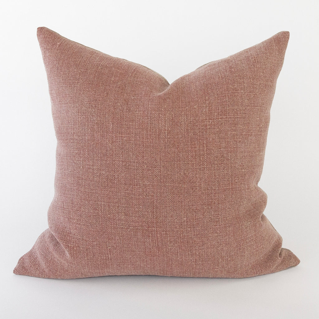 Kenmare Linen 20x20 Pillow, Clay
