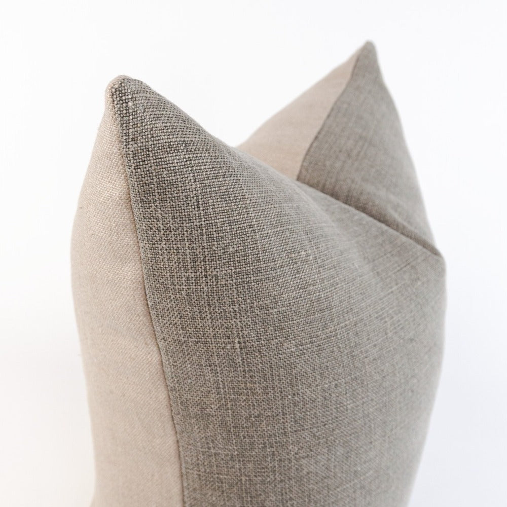"Kenmare 24"" two-toned linen pillow from Tonic Living"