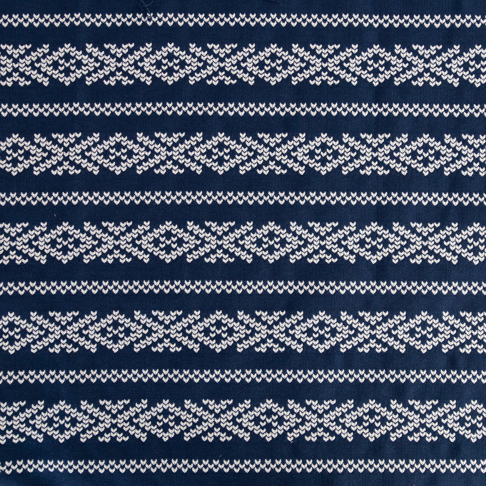 Kira, Indigo, a blue and white cross stitch fabric from Tonic Living