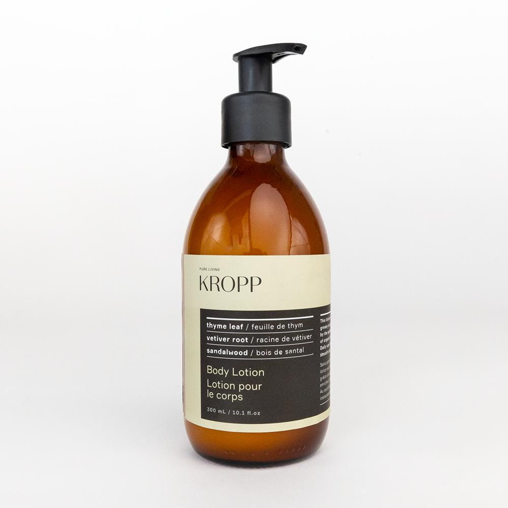 Kropp Body Lotion, an essential oils, paraben free skin lotion from Tonic Living