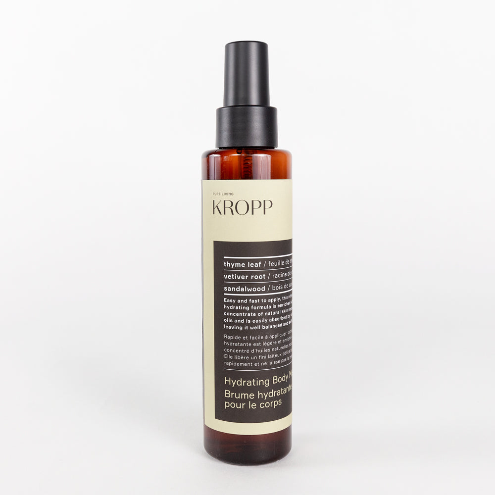 Kropp Body Mist, a thyme and sandalwood scented body mist from Tonic Living