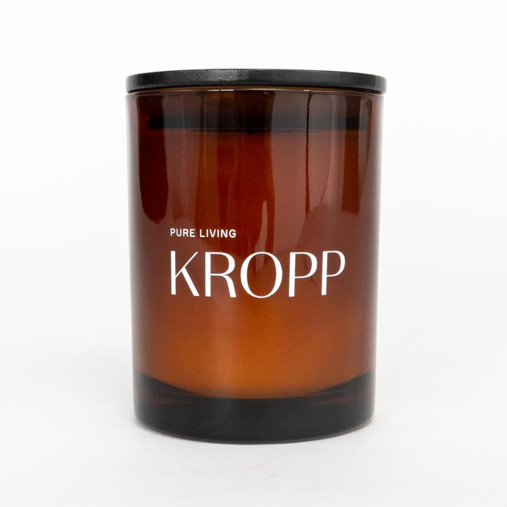 Kropp organic soy candle, an orange, lemon, cedar scented candle from Tonic Living