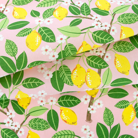 Lemon Squeezy, Pink outdoor fabric at Tonic Living