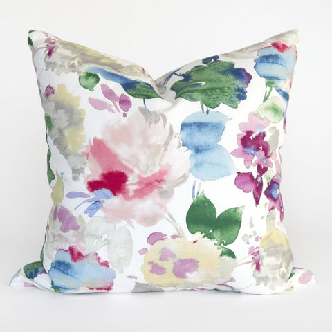 Lucie watercolor floral pillow from Tonic Living