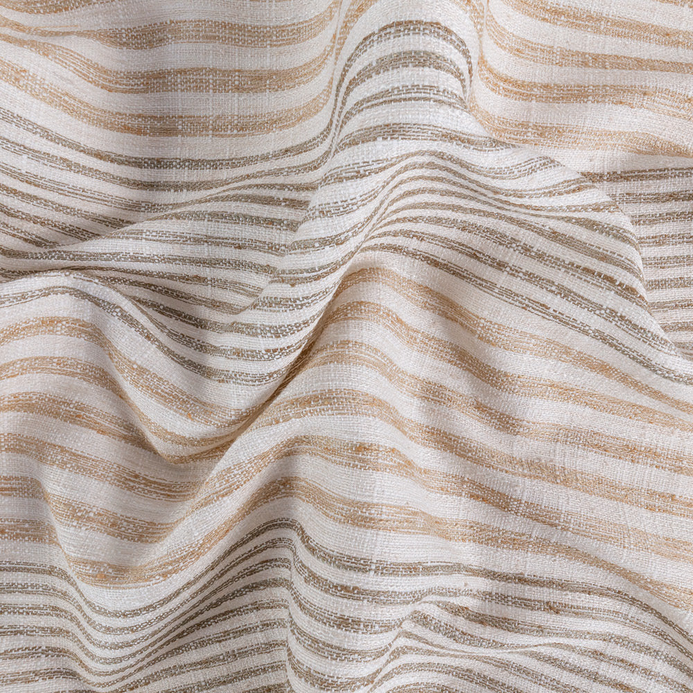 Maritime Hemp, a beige and brown stripe fabric from Tonic Living