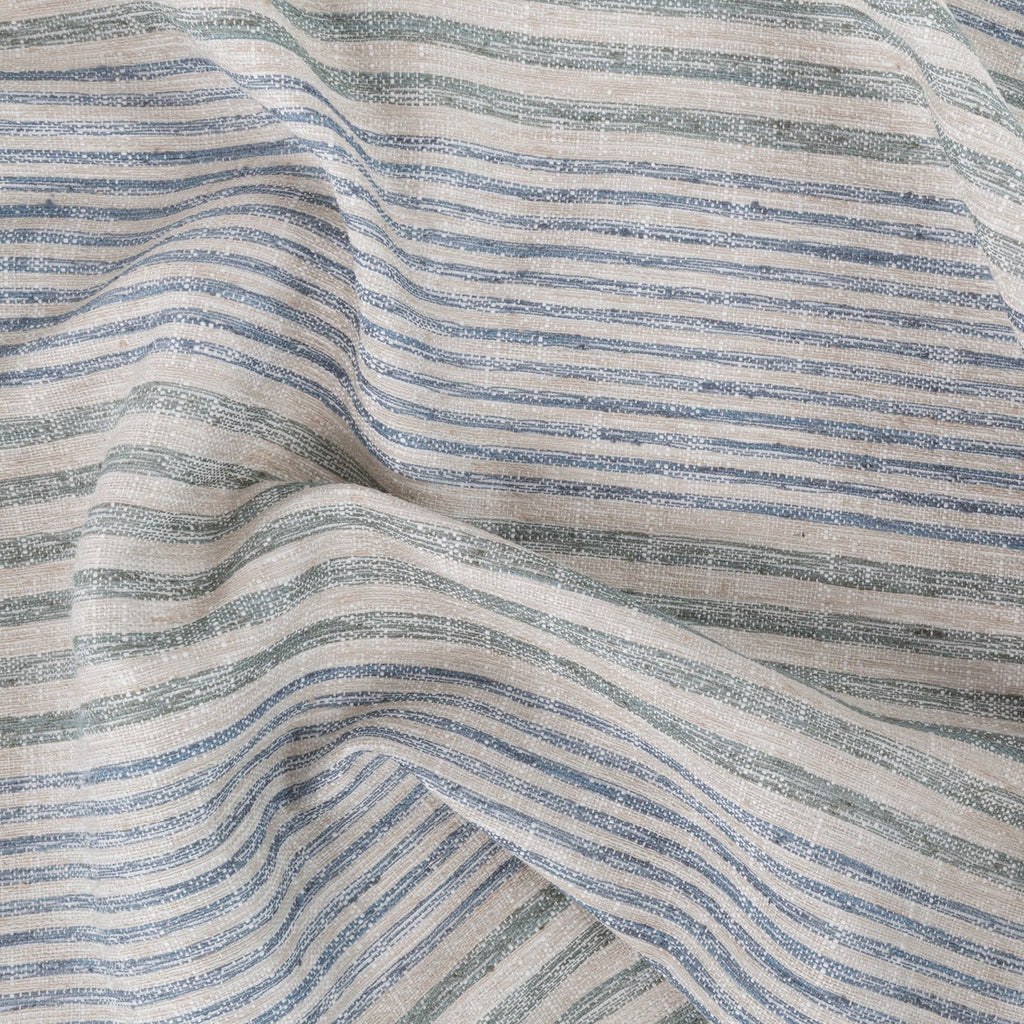 Maritime, Seaglass blue and green stripe fabric from Tonic Living