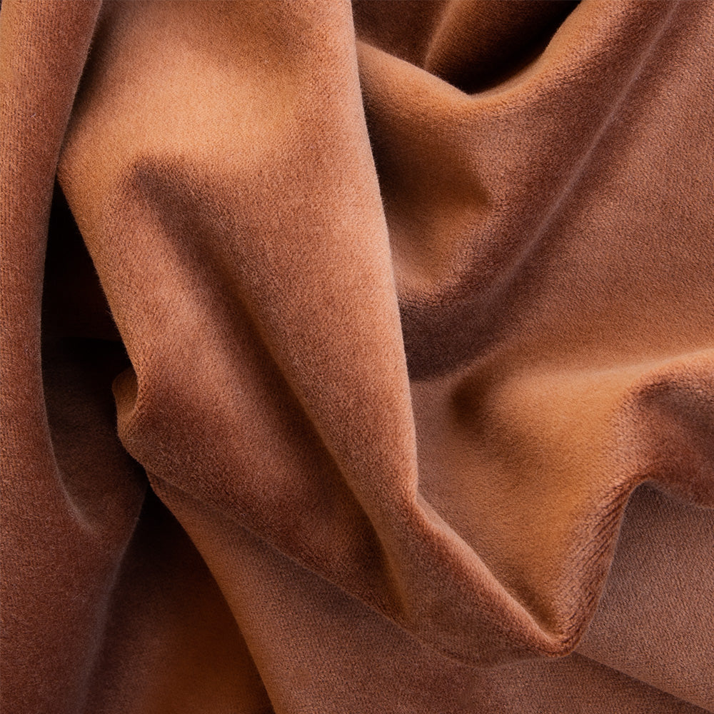 Mason Velvet Cognac, a rich rust brown velvet from Tonic Living