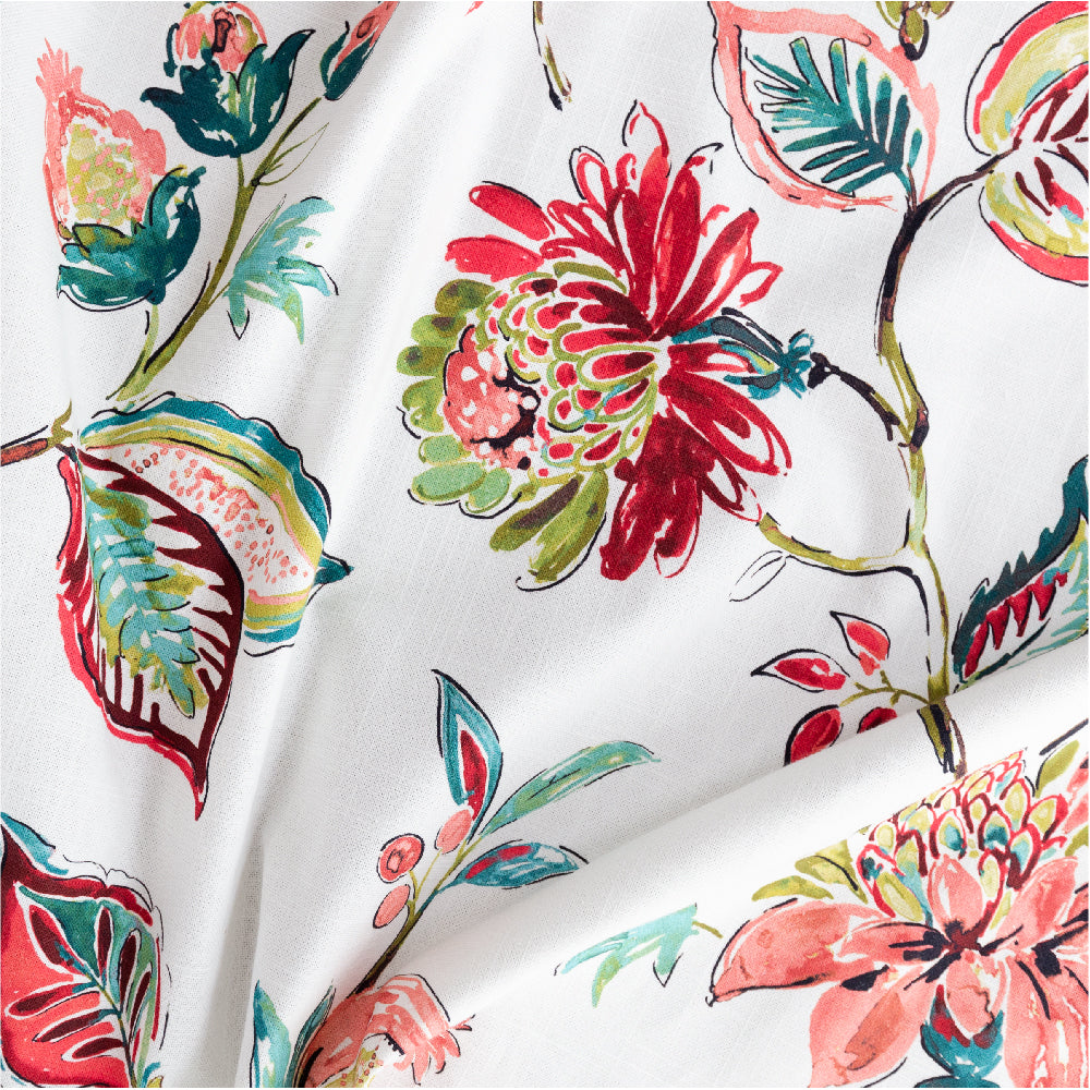 Matilda Fabric, Pink Blooms a large scale floral print from Tonic Living