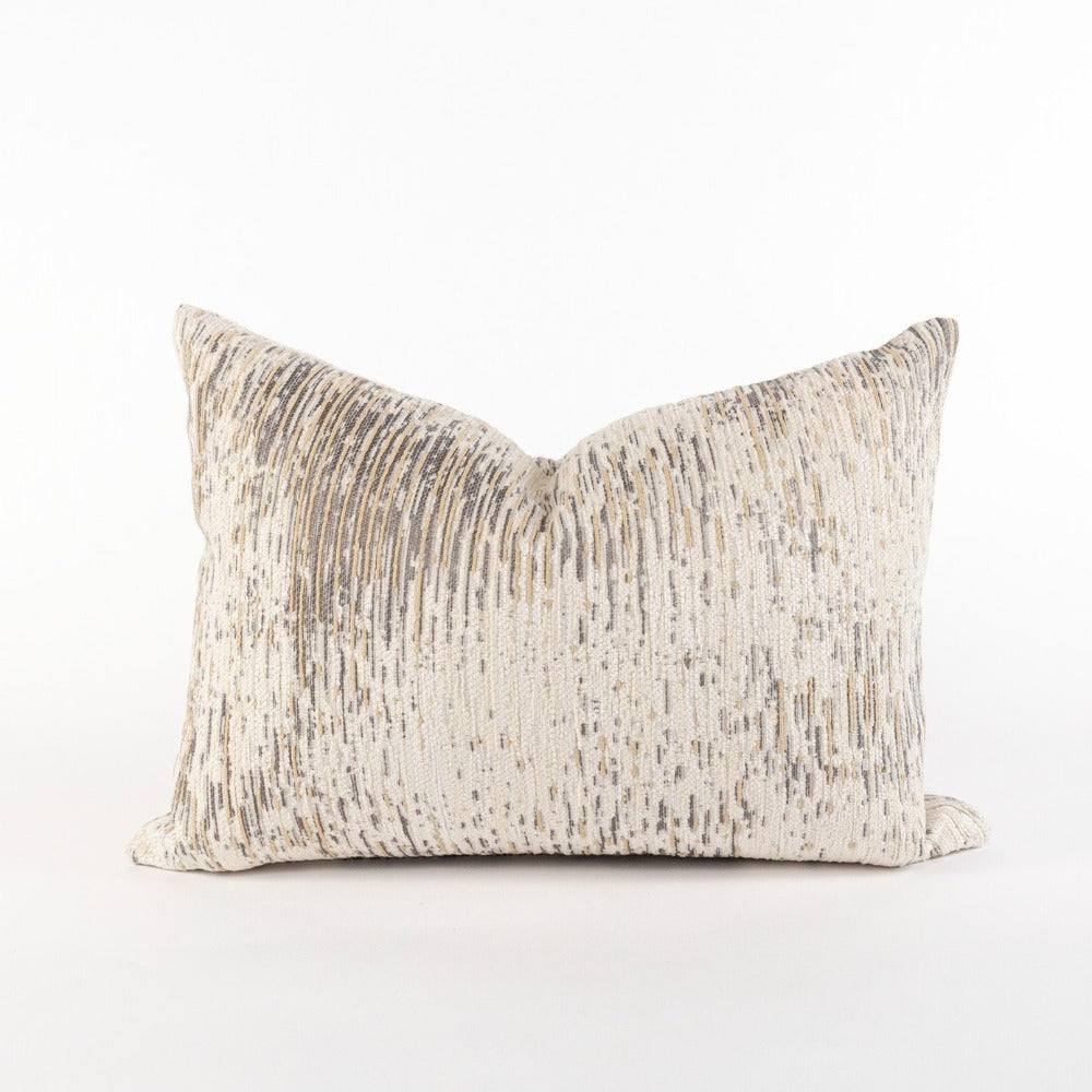 Moonwalk Mini Lumbar Pillow, Dune, metallic gold textured pillow from Tonic Living