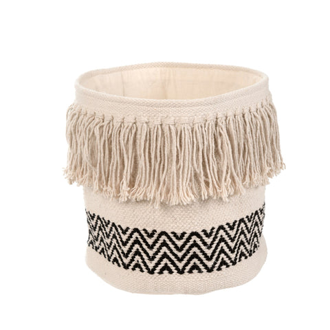 Cleo, Fringe Storage Basket - Tonic Living