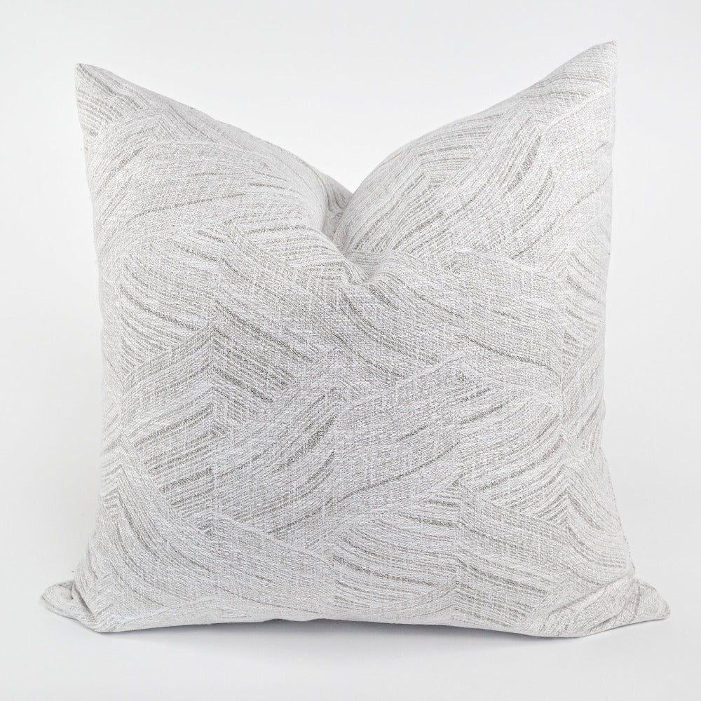 Muro soft grey waves Tonic Living pillow, fabric from Ellen Degeneres