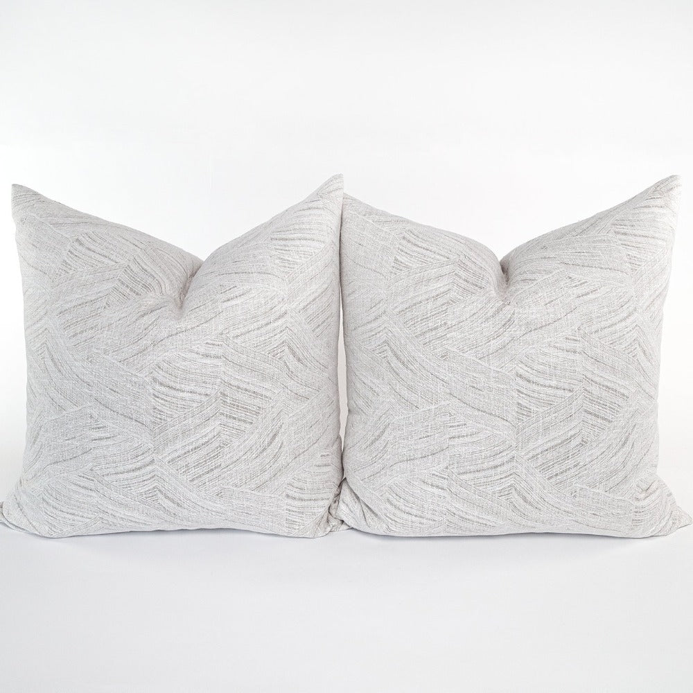 Muro soft grey waves Tonic Living large 24x24 pillow, fabric from Ellen Degeneres