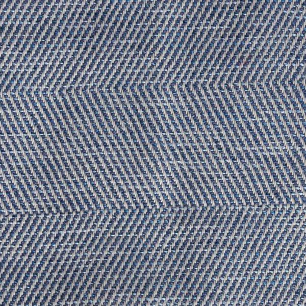 Neigel outdoor navy and cream chevron fabric from Tonic Living