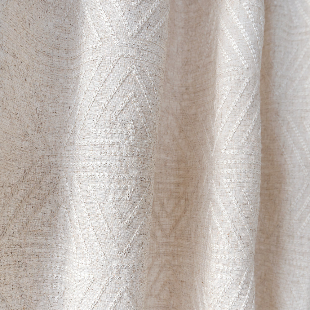Olivia Natural, a beige and cream embroidered fabric from Tonic Living