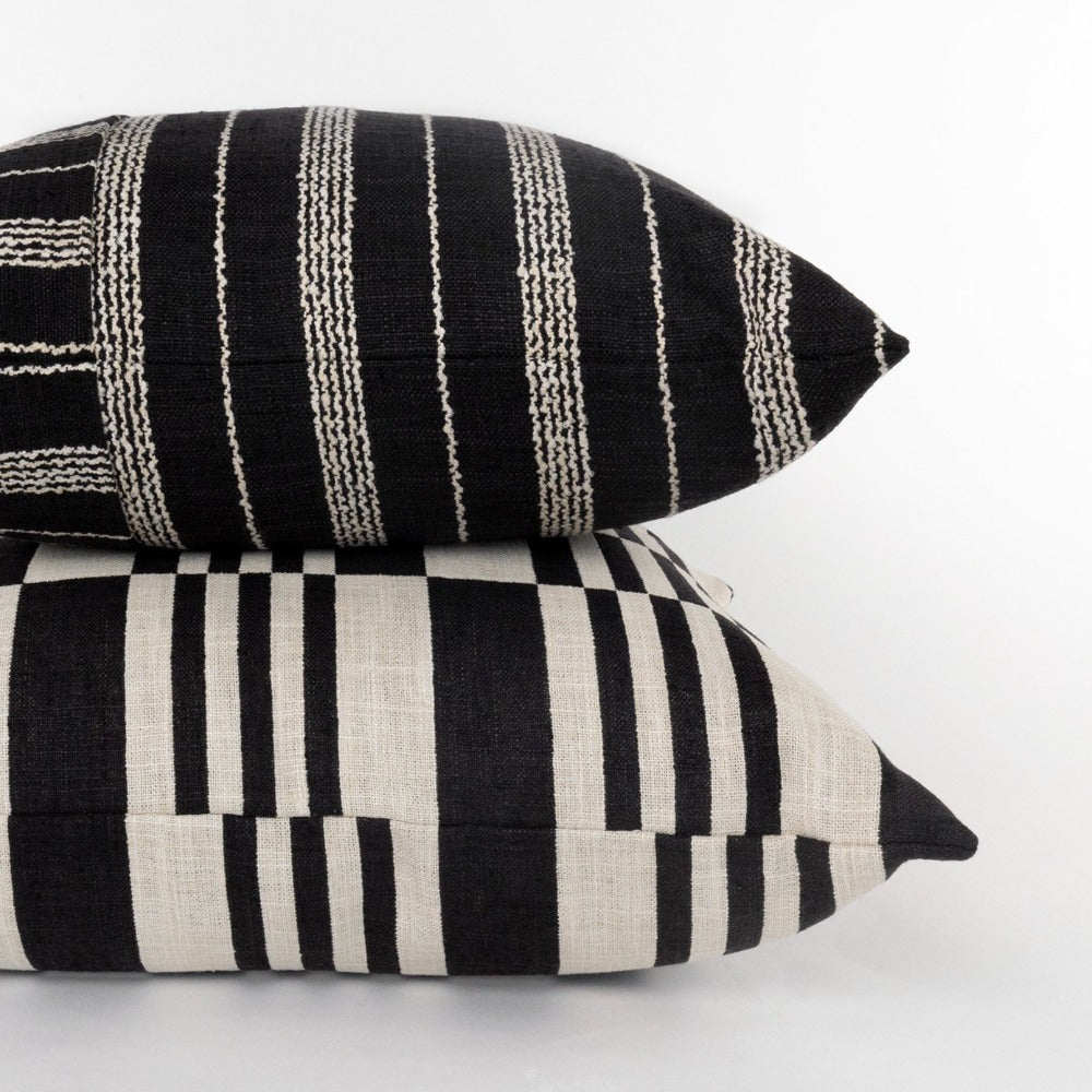 Graphic black and beige pillows from Tonic Living
