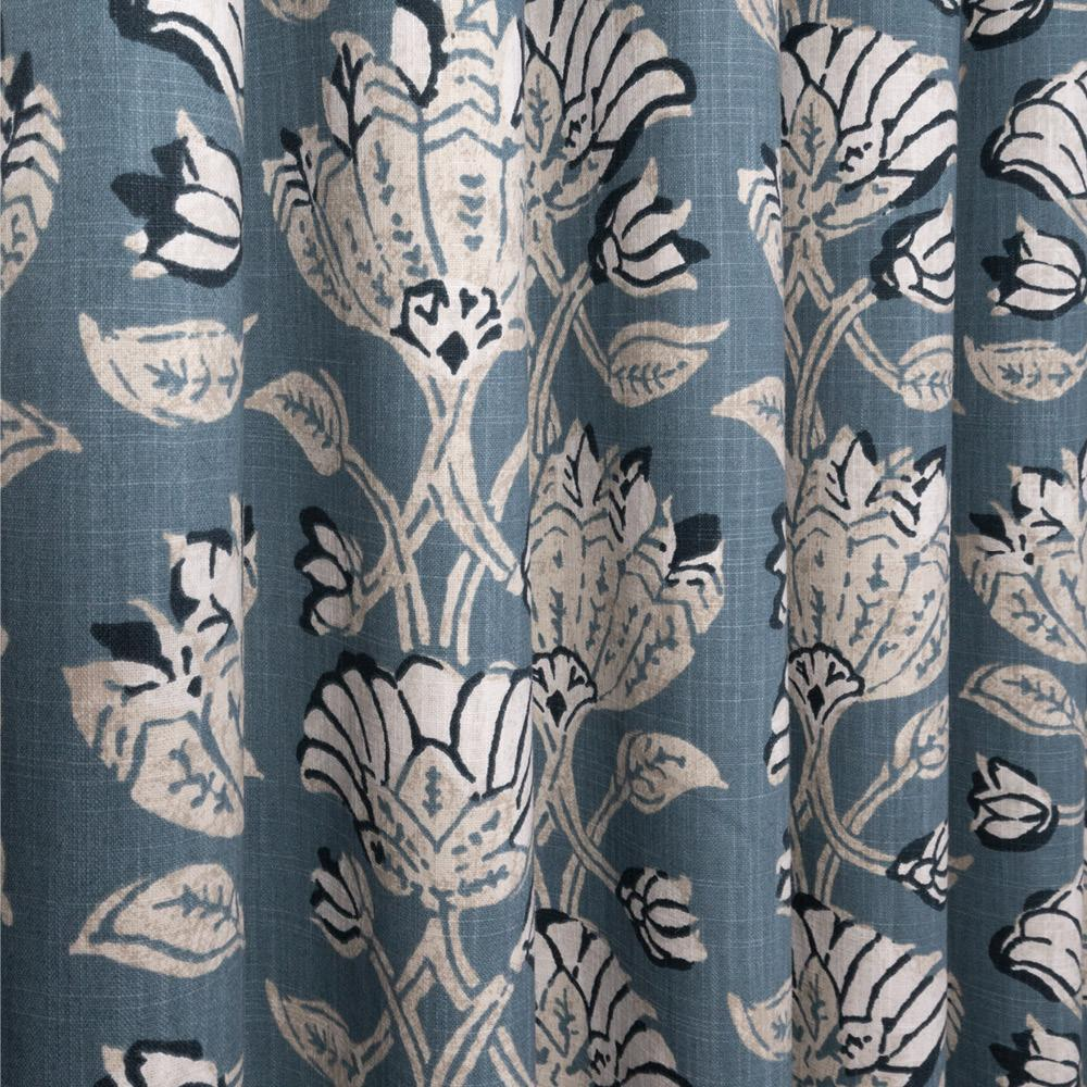 Filicia Stonewash Blue, a cotton floral print fabric from Tonic Living