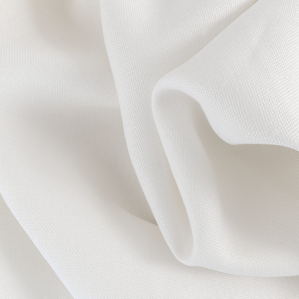 Provence, White - A thick linen drapery fabric in crisp white