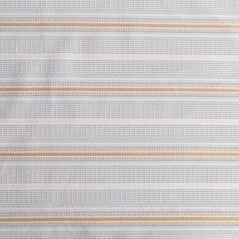 Rhodes, a cream, blue and yellow stripe outdoor fabric from Tonic Living