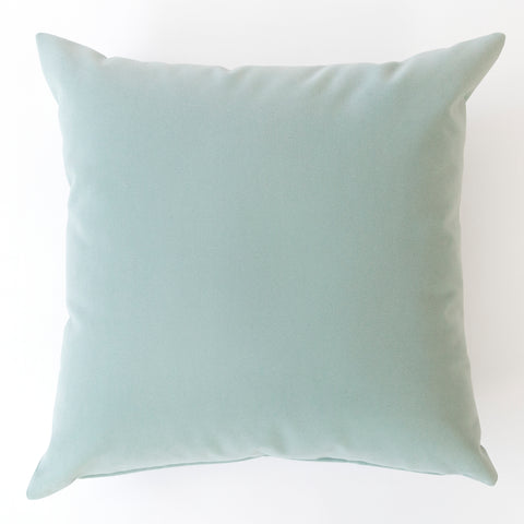 Sunday outdoor blue velvet pillow from Tonic Living, formerly Sundance