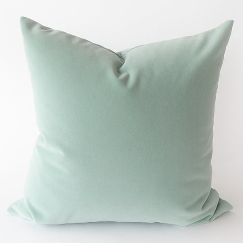 Sundance outdoor blue velvet pillow from Tonic Living
