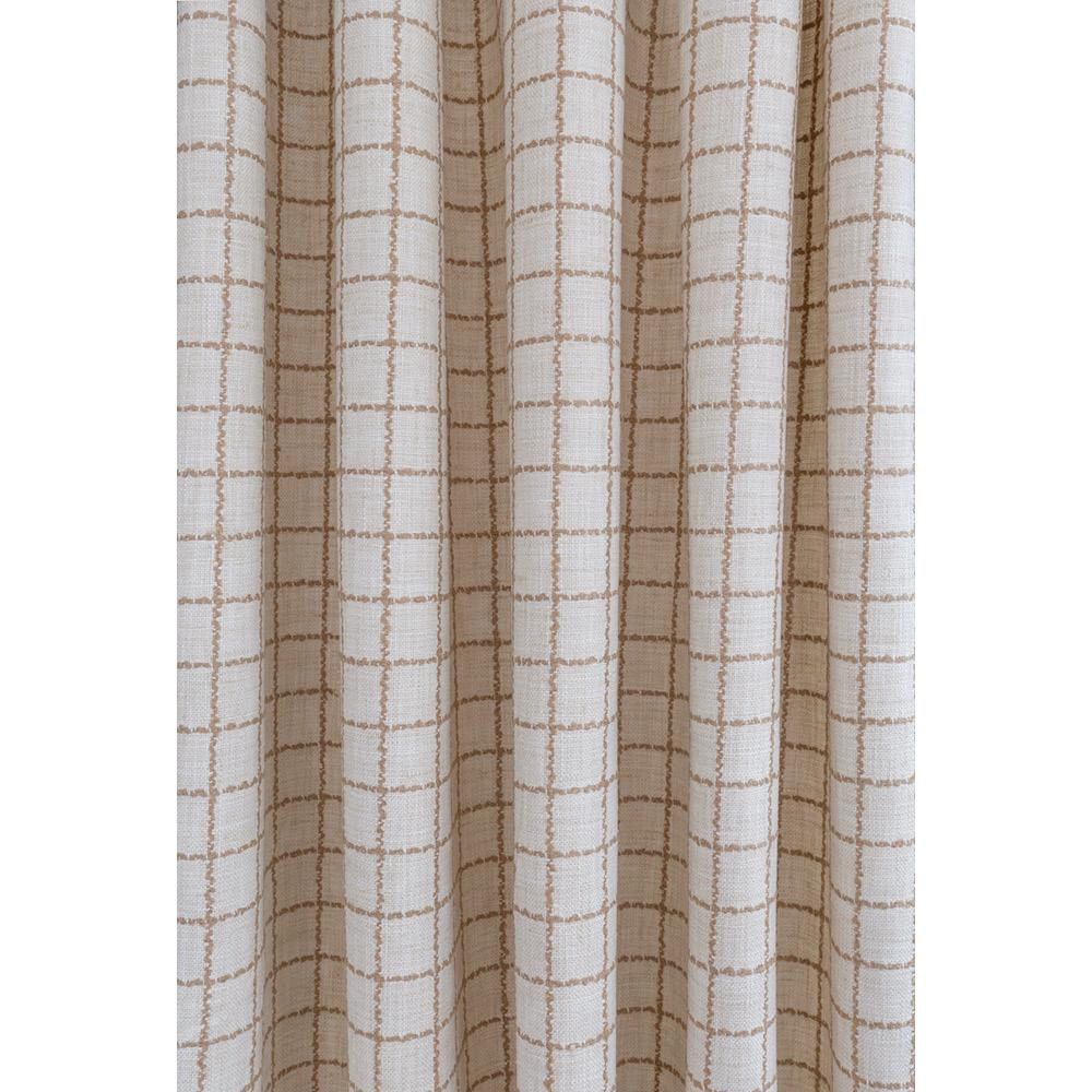 Campobello ivory and beige windowpane check fabric from Tonic Living