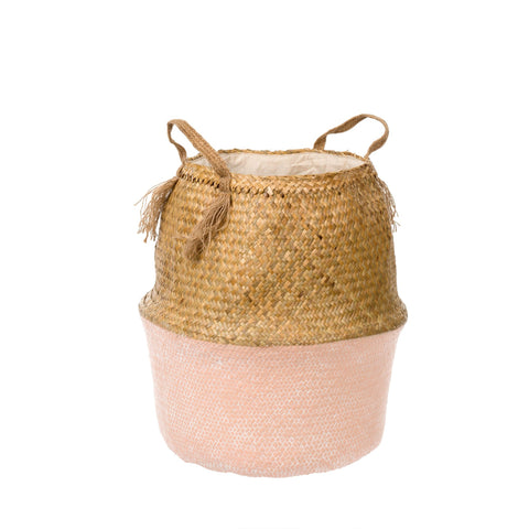 Tall Belly Basket, Light Pink - Tonic Living