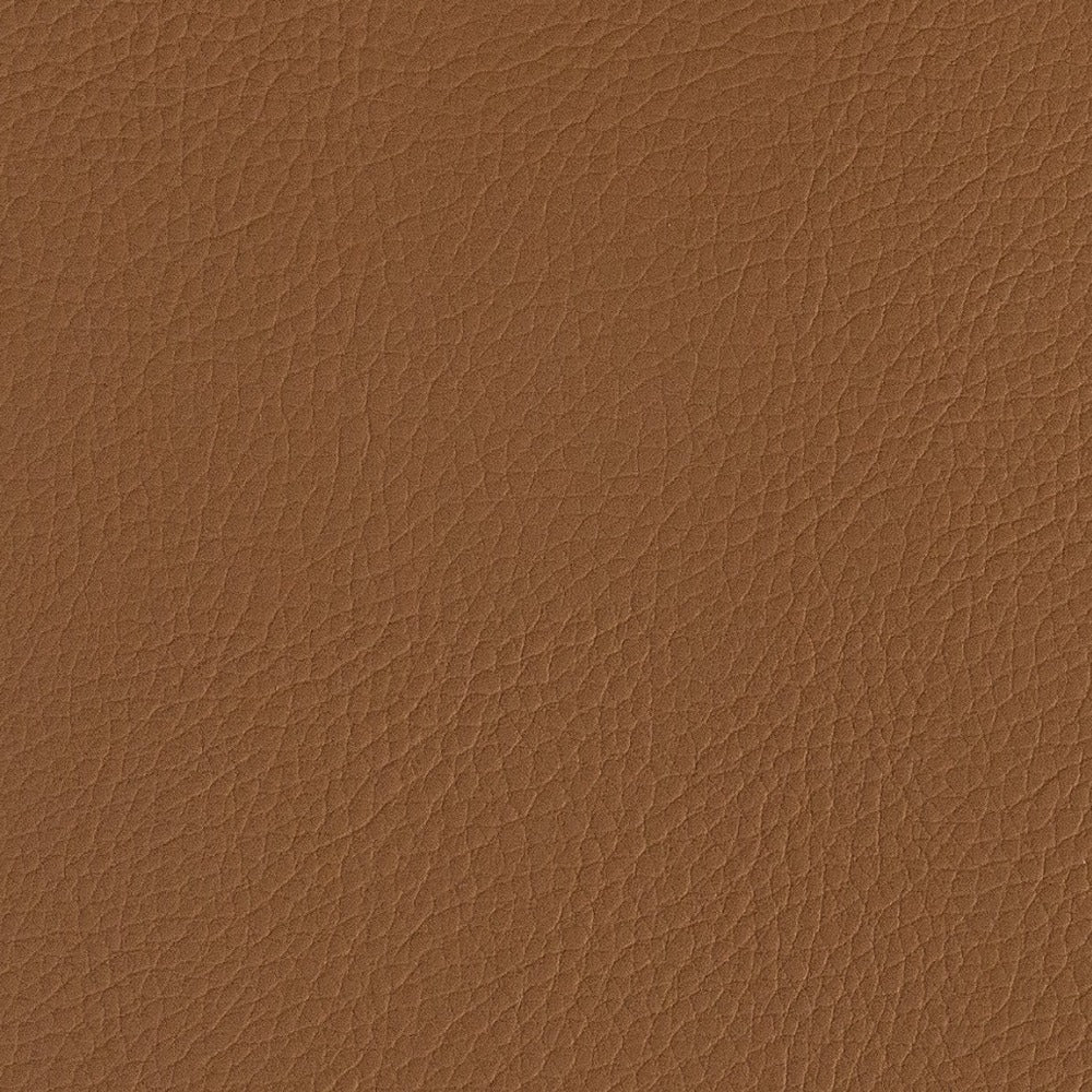 Tate Inside out Faux Leather, SADDLE, a saddl brown vegan leather fabric from Tonic Living