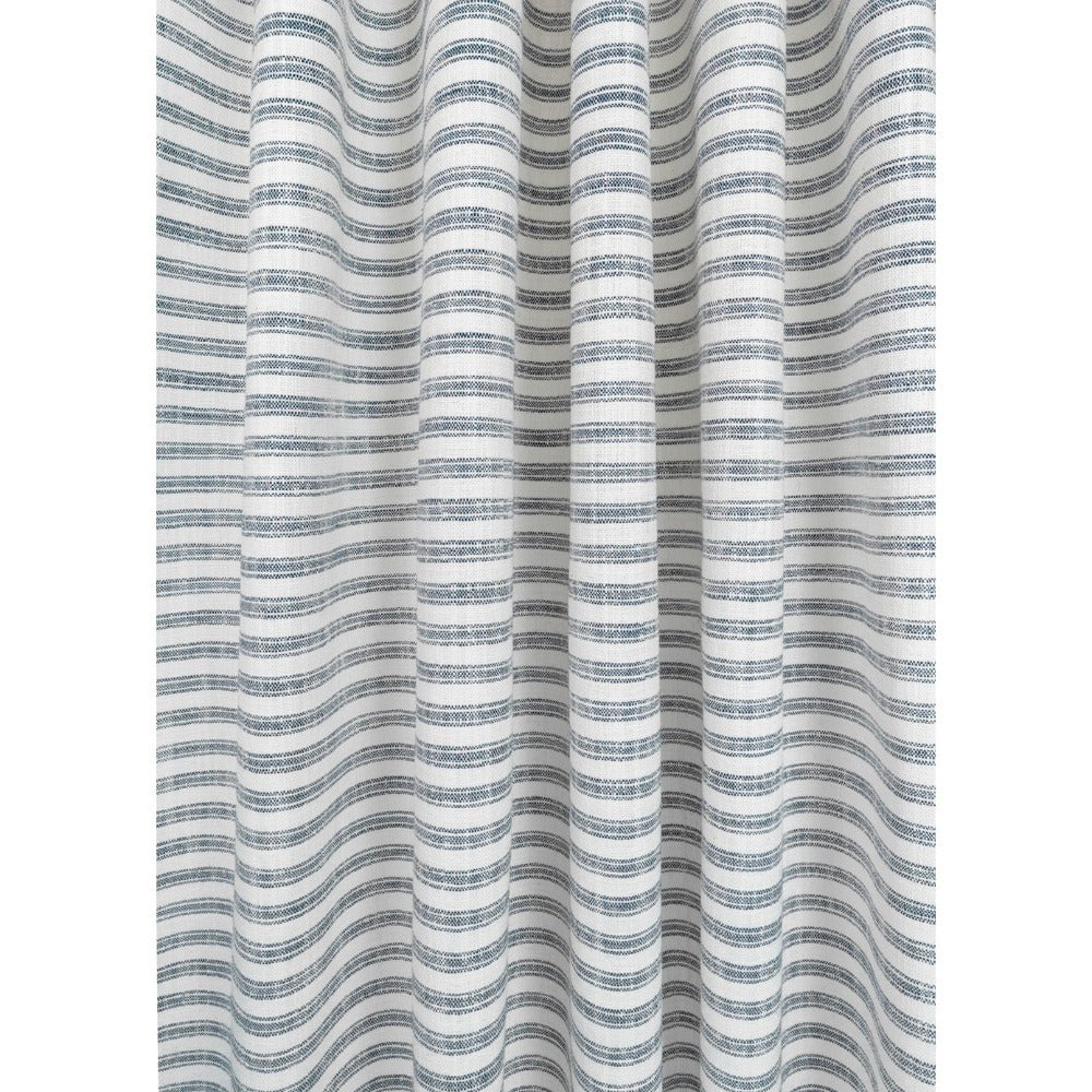Thompson denim blue ticking stripe in a high performance weave from Tonic Living