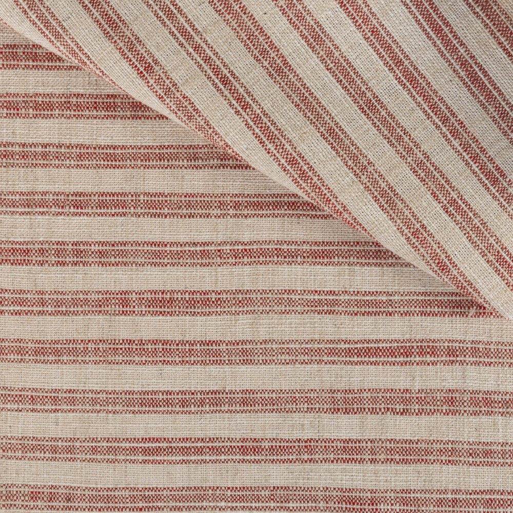 Thompson brick red ticking stripe in a high performance weave from Tonic Living