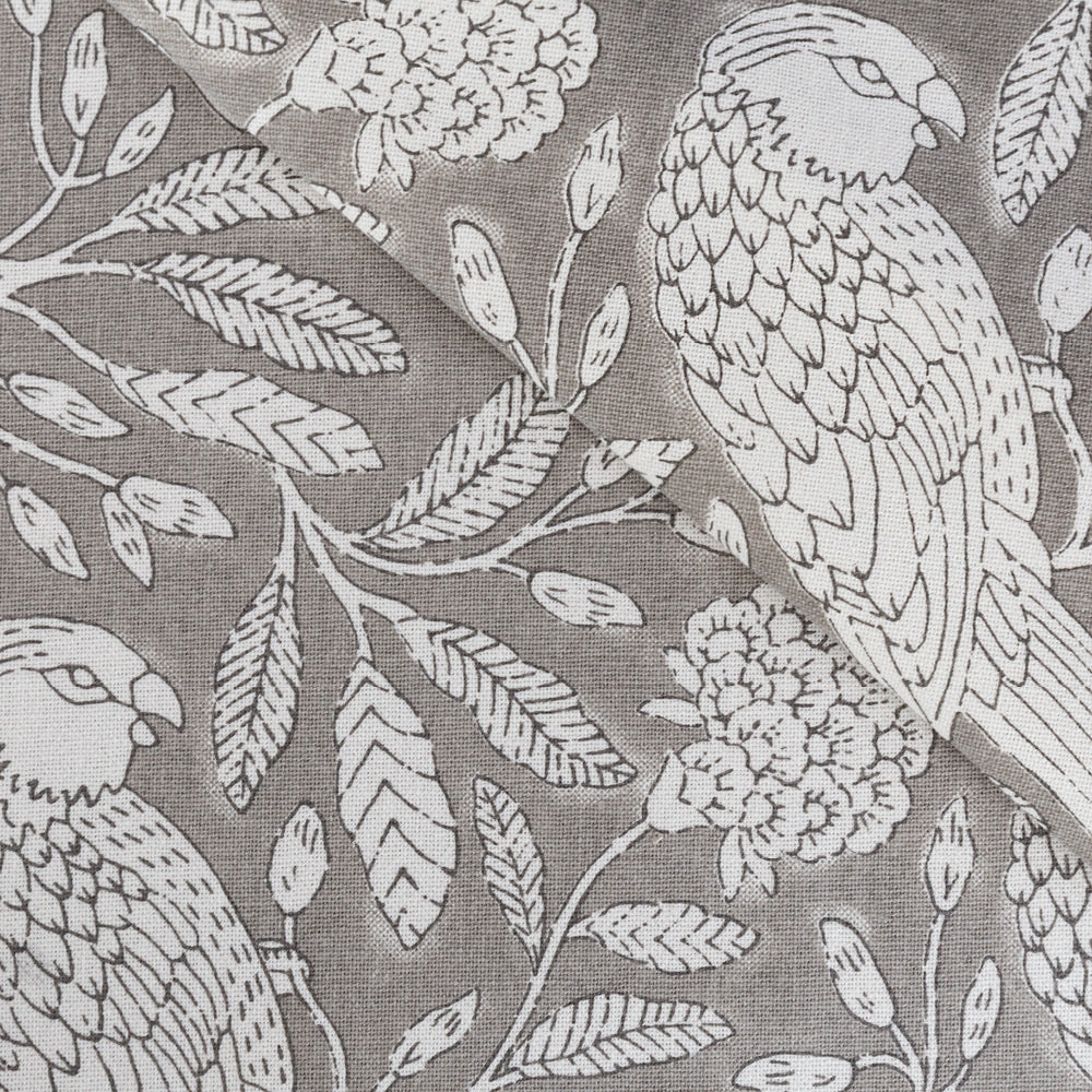 Tippi, a stone gray and off white flora toile print from Tonic Living