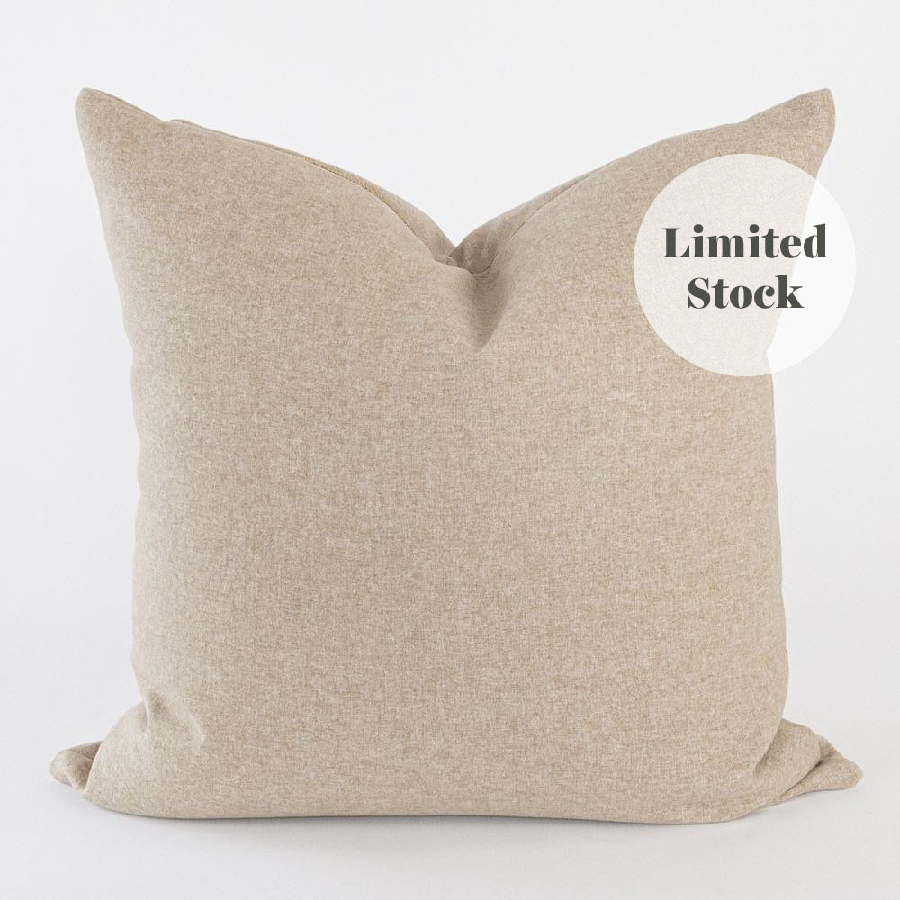 Tobermory Felt 20x20 Pillow, Camel (One of a Kind)