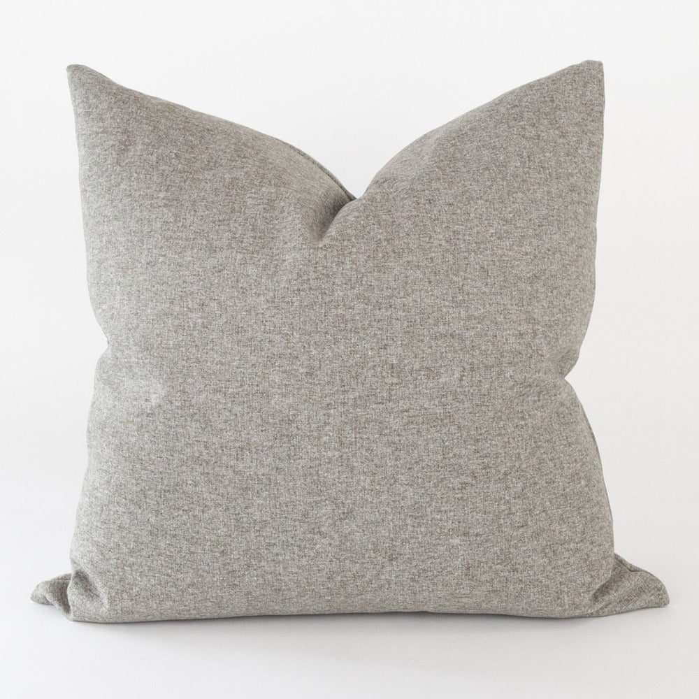 Tobermory Felt Pillow, Flannel, a plush grey felt pillow from Tonic Living