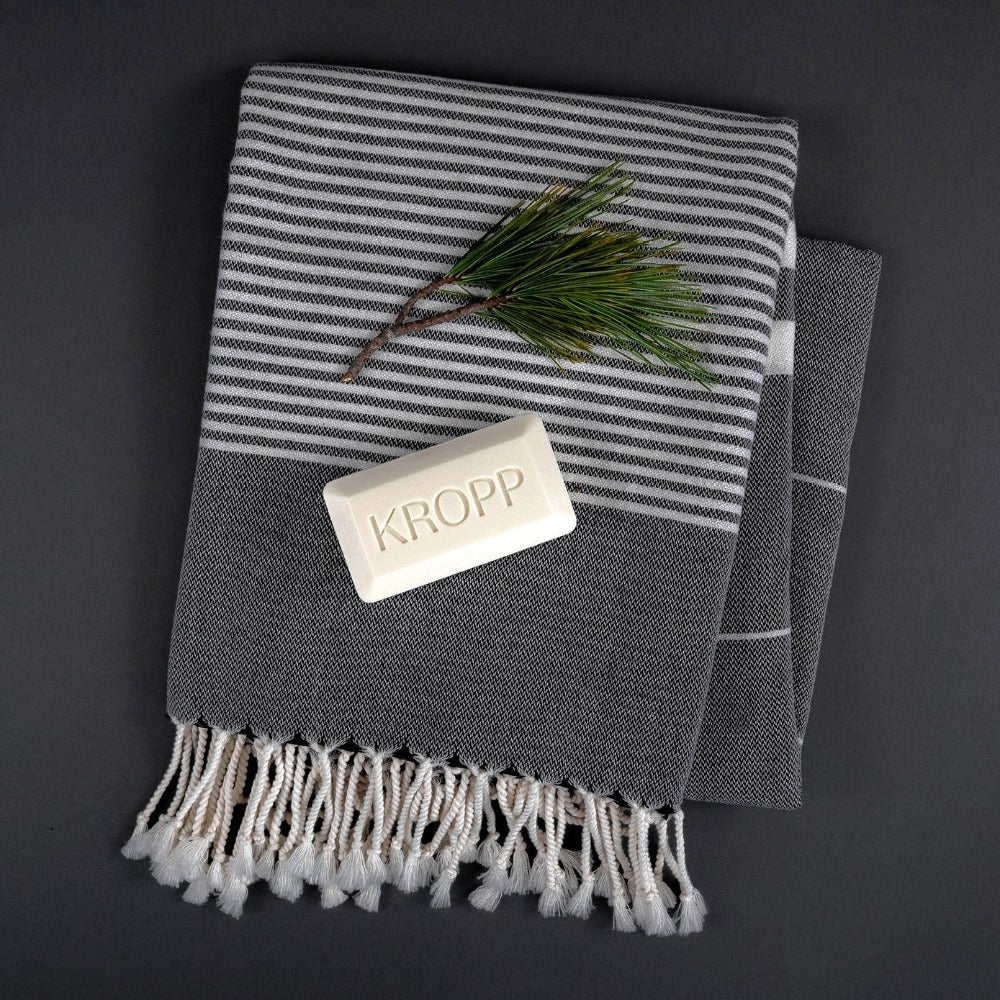 The Soho Turkish Towel, Slate, at Tonic Living