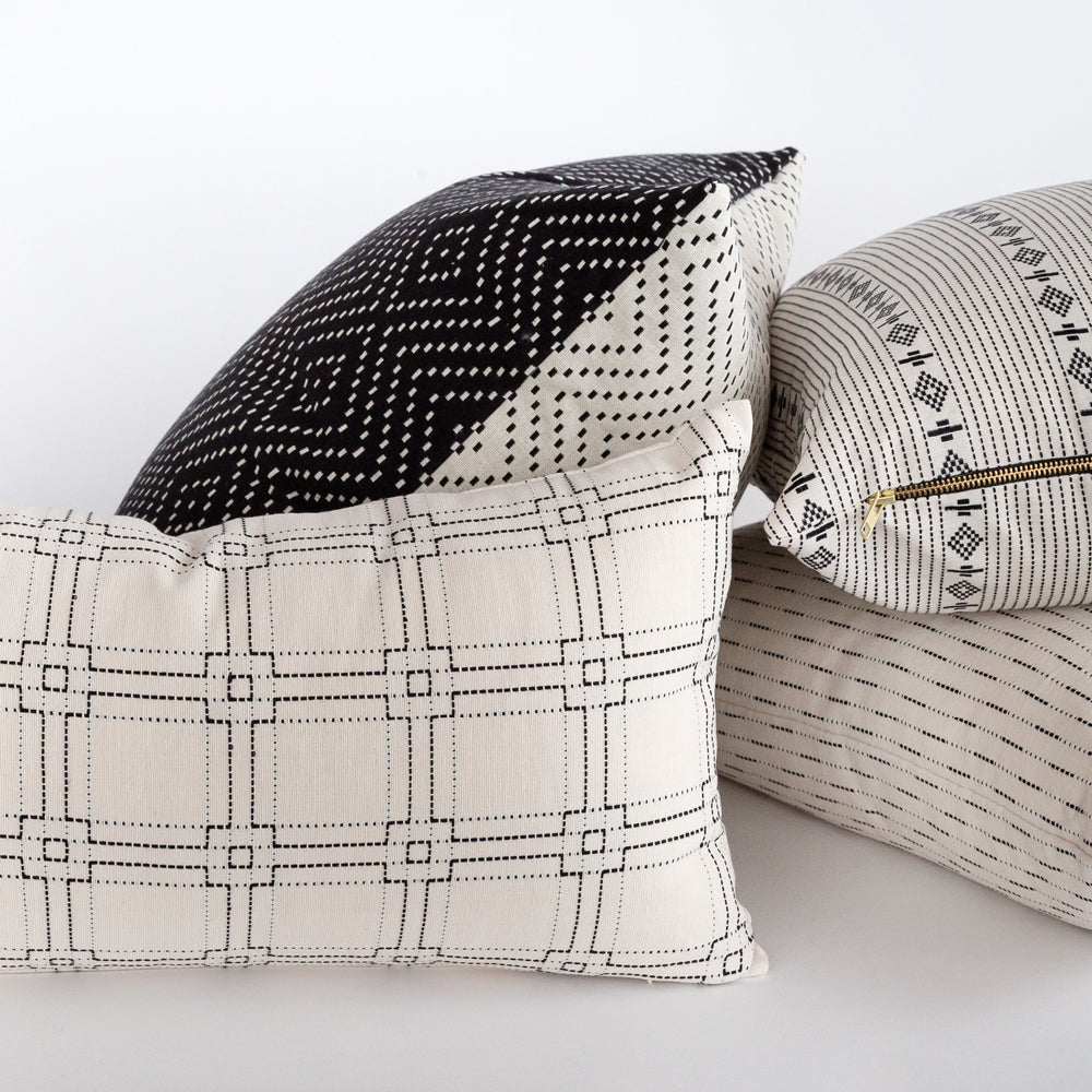 Black and white pillows from Tonic Living
