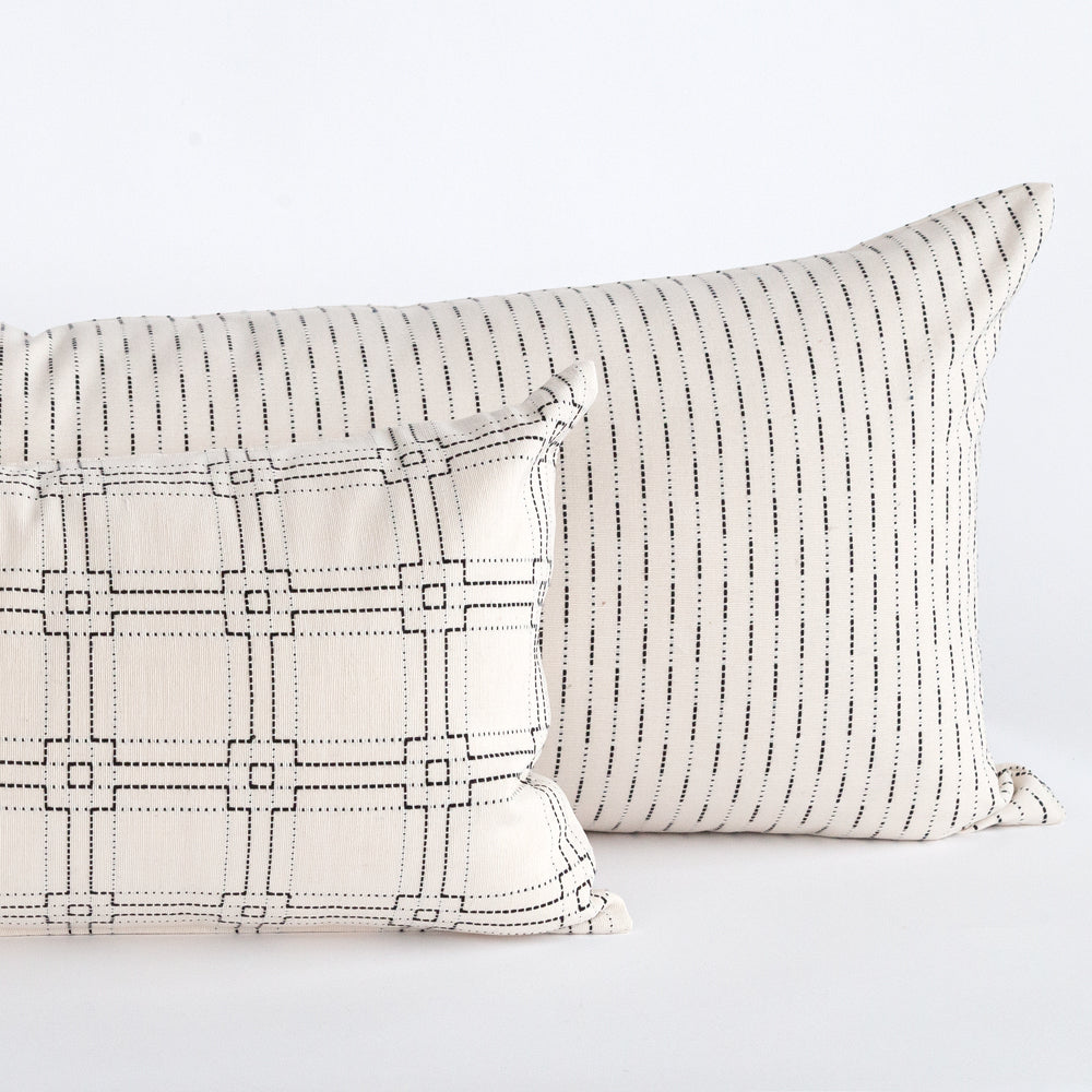 black and white lumbar pillows from Tonic Living