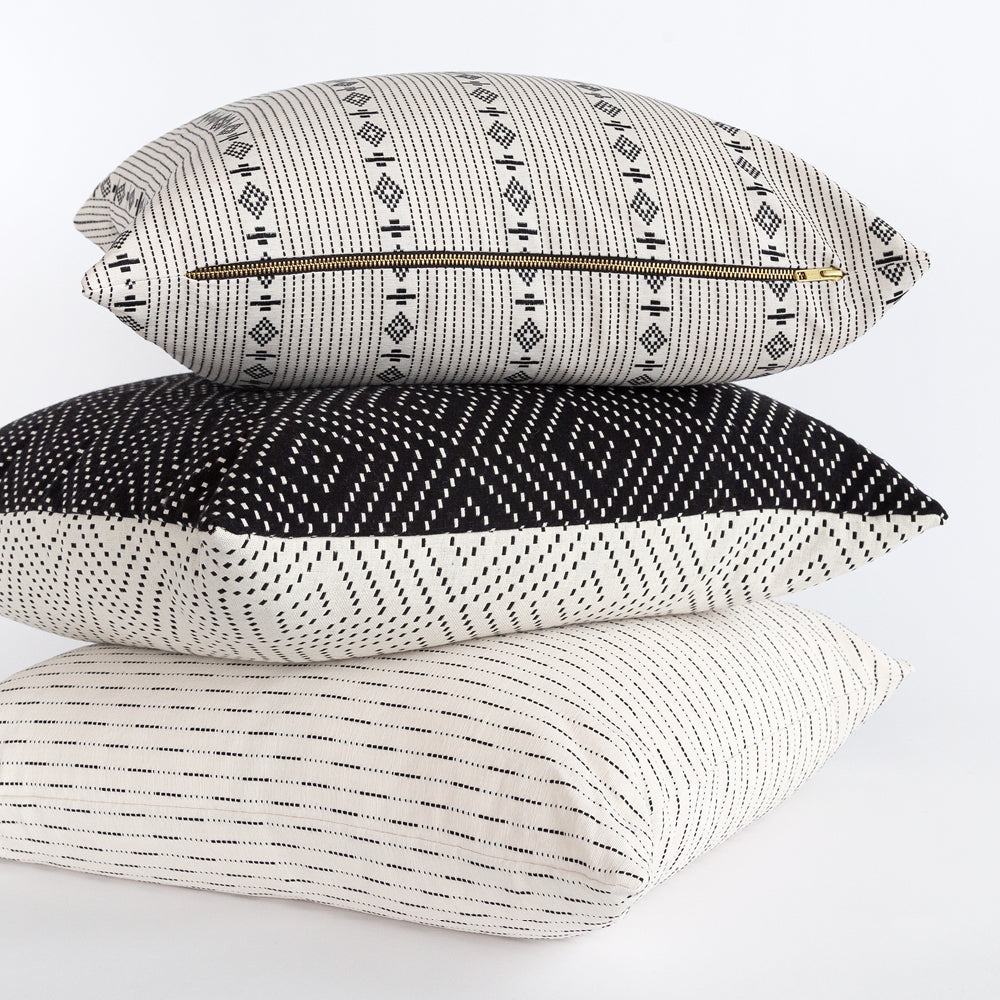 New cotton black and white pillows from Tonic Living