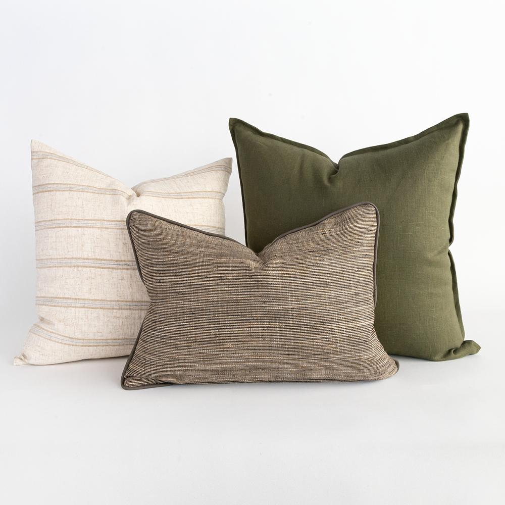 Earthy pillow combo from Tonic Living