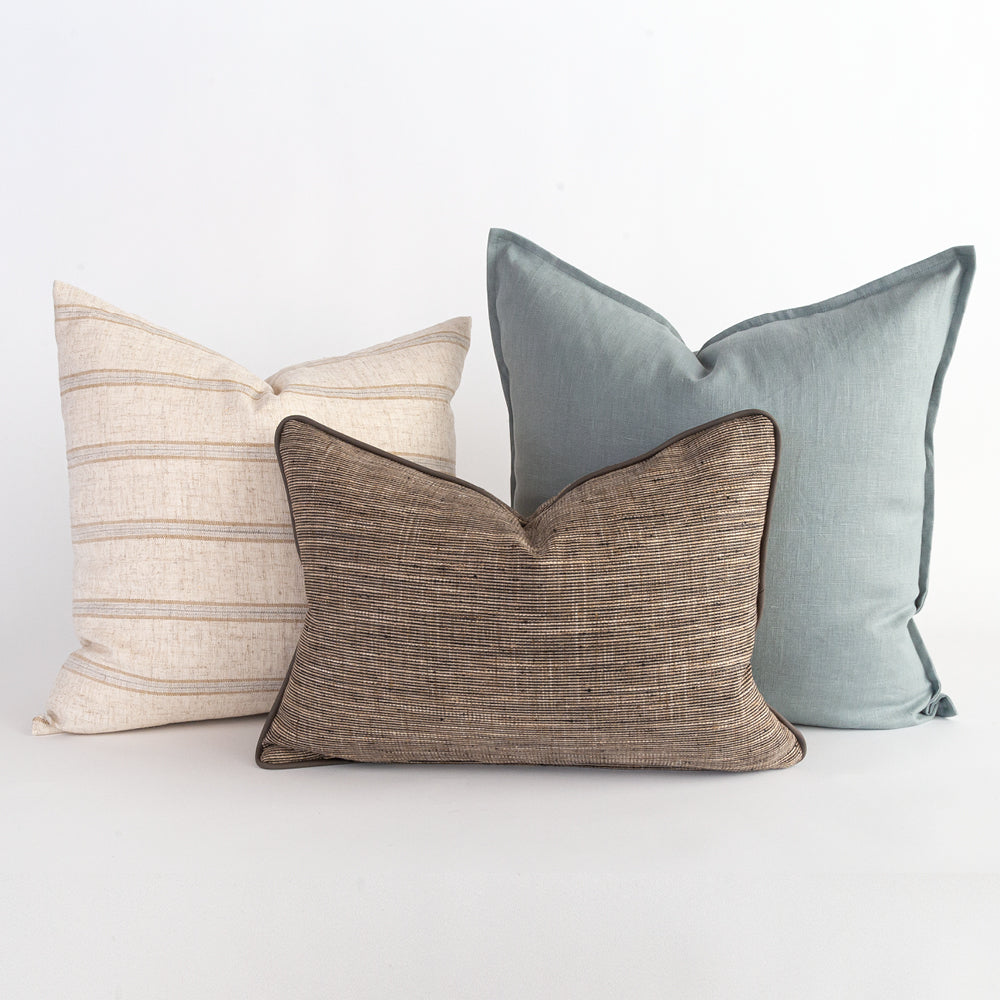 sophisticated pillow combo from Tonic Living