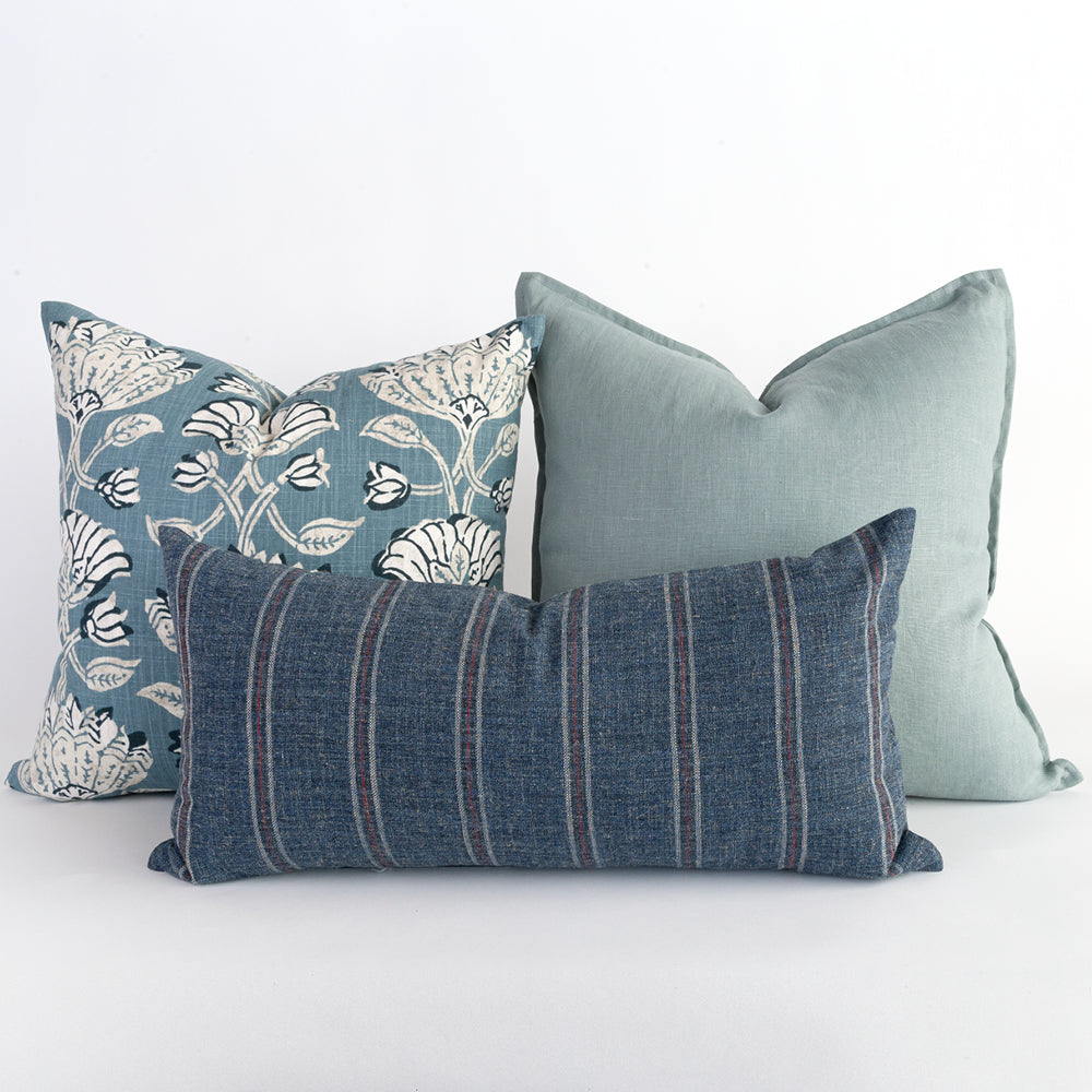 Blue pillow combo from Tonic Living