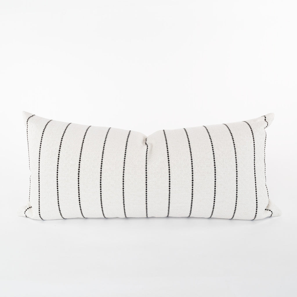 Toulouse 15x32 Extra Long Pillow, Onyx