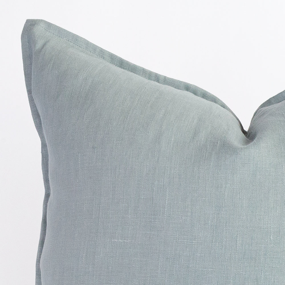 Tuscany blue linen pillow from Tonic Living