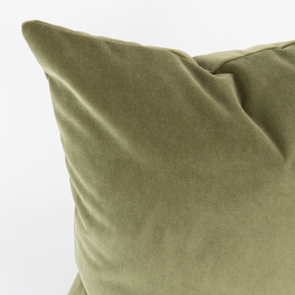 Valentina Velvet Pillow, Leaf, an fern green velvet pillow from Tonic Living