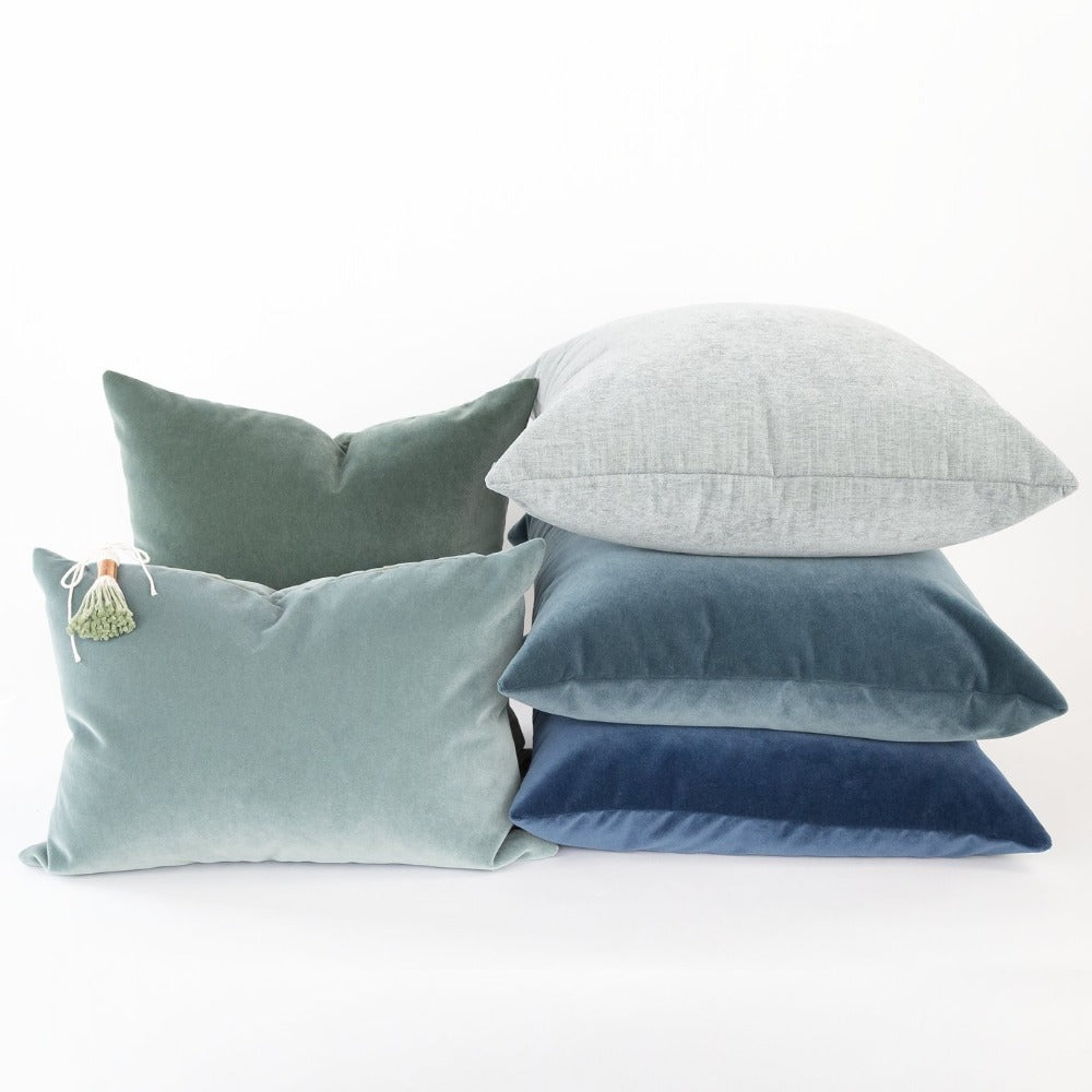 blue grey pillows from Tonic Living