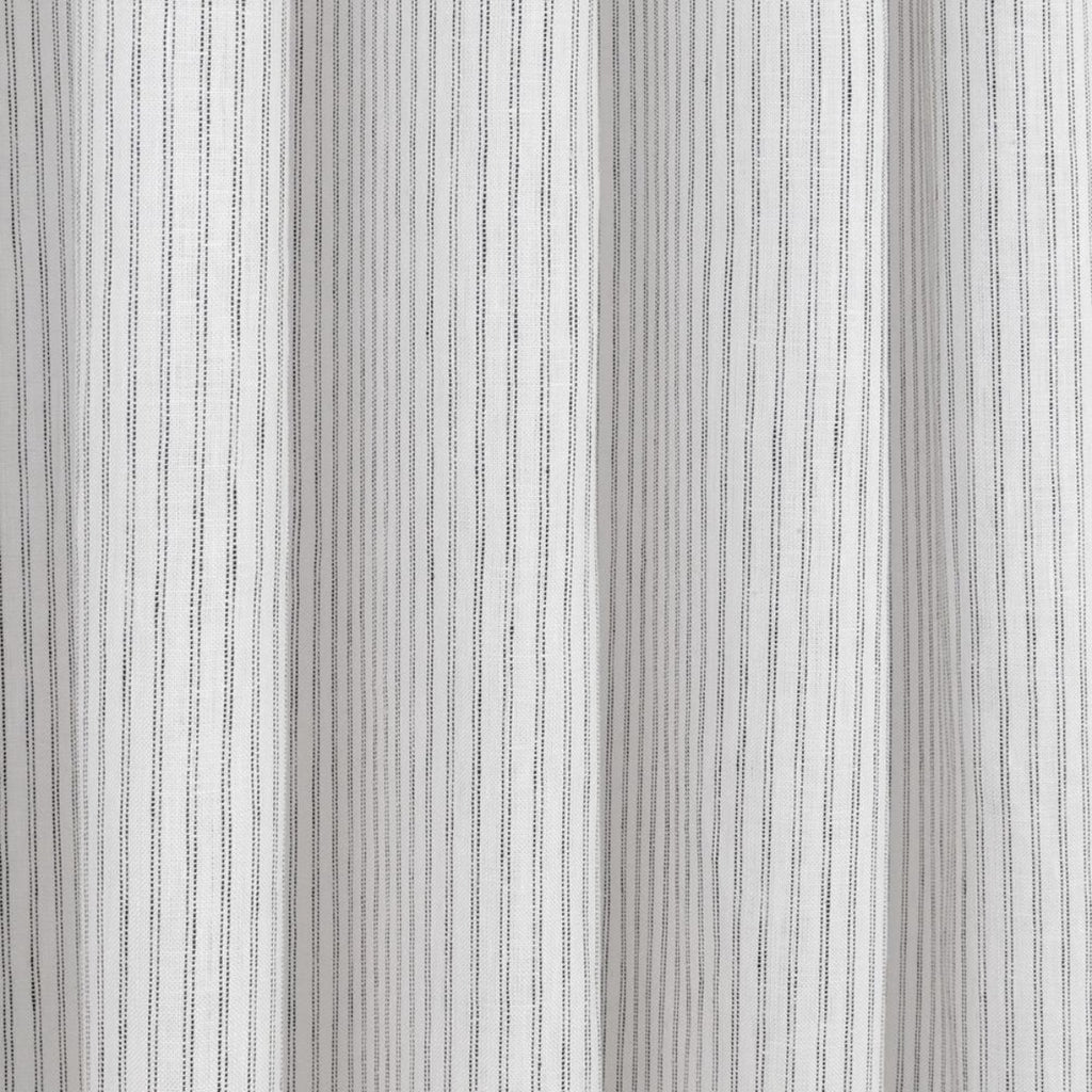Verona Stripe, an ivory with black stripe linen fabric from Tonic Living