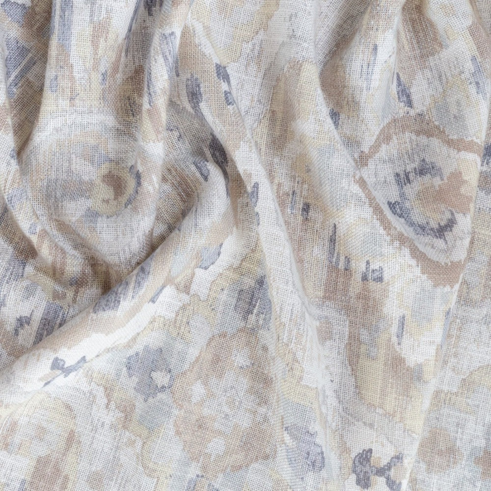 Viceroy Fabric, Ecru a soft watery medallion print from Tonic Living