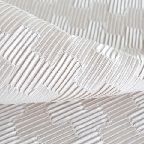 Zelda pleated velvet in off white from Tonic Living